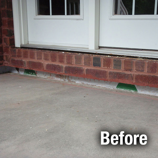 Northern Virginia Concrete Porch Leveling - Before